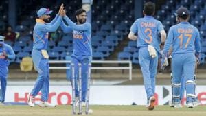 A file photo of the Indian cricket team during their match against West Indies.(AP)