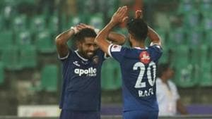 File image of Gregory Nelson and Mohammed Rafi of Chennaiyin FC(ISL / SPORTZPICS)