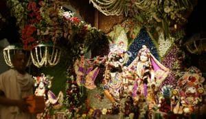 Krishna Janmashtami will be celebrated across India with fun and fervour.(Burhaan Kinu / Hindustan Times)