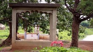 The village Bawamohatra is popular as magarmachh vala goan.(Ritesh Mishra/HT Correspondent)