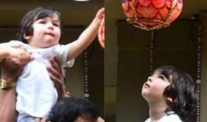 Taimur Ali Khan celebrated Janmashtami at his play school.
