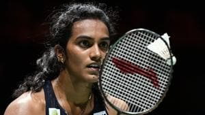 PV Sindhu in action.(AFP)
