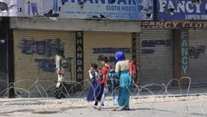 Jammu and Kashmir has been under restrictions since August 5 when the Central government abrogated Article 370 of the Indian Constitution.(HT Photo)