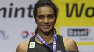 PV Sindhu defeated Nozomi Okuhara in the BWF World Championship final.(AP)