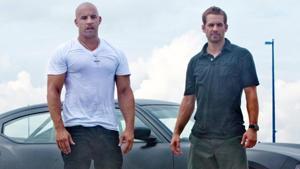 Vin Diesel and Paul Walker in a still from Fast Five.