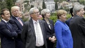 G7 leaders close their summit Monday with discussion of world problems including the fires ravaging the Amazon rainforest.(AP photo)