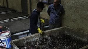 A compost plant in a housing society of Thane(Praful Gangurde / HT File Photo used for representative purpose)