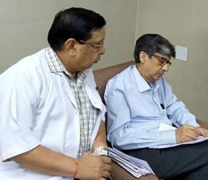 The Medical Council of India delegation during inspection at Government Medical College in Patiala on Tuesday(HT Photo)