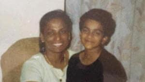 A young PV Sindhu with champion sprinter PT Usha.(Twitter/PT Usha)