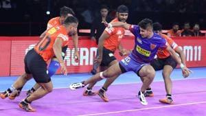 Dabang Delhi defeated U Mumbai in PKL 2019.(PKL)