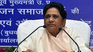 Bahujan Samaj Party Supremo Mayawati at the central executive committee meeting of the party in Lucknow .(ANI photo)