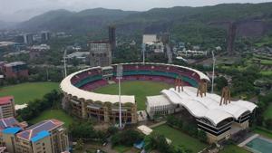 The DY Patil Sports Stadium is a football and a cricket stadium at Navi Mumbai.