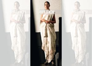 Labels no longer apply, and size and skin-tone are all-inclusive, says Priya Tanna (Model: Tanisha. On Tanisha: Sari, Anamika Khanna; jewellery, Amrapali; heels, Christian Louboutin)(Photo shot exclusively for HT Brunch by Hari Nair)