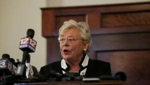 Alabama Governor Kay Ivey apologized Thursday for wearing blackface decades ago, becoming the latest politician to face scrutiny over racially insensitive photos and actions from their university days.(REUTERS)
