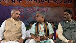 Dilip Ghosh alleges TMC workers disrupted his meeting with locals at Lake Town(ANI Photo)