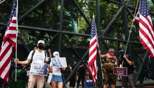 China has accused the US of stoking the protests that began in June against a bill allowing extraditions to the mainland, and treats any calls for independence as a red line that could justify a harsher crackdown.(Bloomberg Photo)