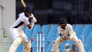 File photo of a match in Duleep Trophy.(HT PHOTO)