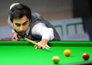Player Pankaj Advani from India in action during the Manisha Asian Championship at Community Centre Sector 19 in Chandigarh on Wednesday, 01 May 2019.(Keshav Singh/HT)