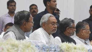 Chief Minister Nitish Kumar cited Bihar's double-digit growth to refute reports of an economic slowdown.(Parwaz Khan /HT PHOTO)