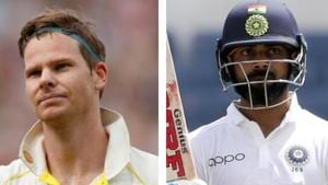 Steve Smith overtook Virat Kohli in Test rankings(HT Collage)