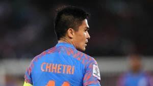 File image of India football skipper Sunil Chhetri.(Getty Images)