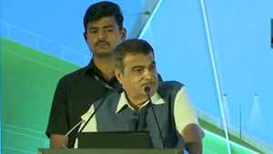 Nitin Gadkari assured that there were no plans to ban conventional petrol and diesel vehicles.(ANI Photo)