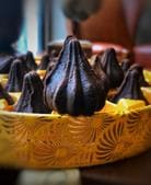 You can do anything with the idea of the modak, as long as it's the right shape. Country of Origin makes a Hazelnut Fudge one that's nutty and gorgeously rich.