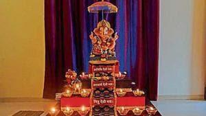 The idol at a Seawoods home in Navi Mumbai.(Bachchan Kumar/ht)