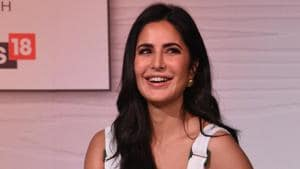 Singapore - September 06, 2019: Actor Katrina Kaif during the Hindustan Times Mint-Asia Leadership Summit, in Singapore, on Friday, September 6, 2019.(HT photo)