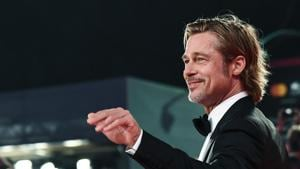 Brad Pitt arrives for the screening of the film Ad Astra.(AFP)