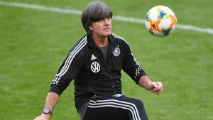 Germany coach Joachim Loew during training(REUTERS)