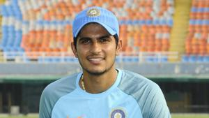File image of India cricketer Shubman Gill.(HT Photo)