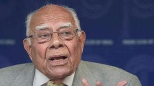 Eminent lawyer and former Union law minister Ram Jethmalani died early Sunday morning in New Delhi.(PTI File Photo)
