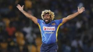 Sri Lanka's Lasith Malinga successfully appeals to dismiss New Zealand's Hamish Rutherford(AP)