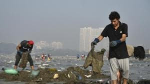 The state's coastal authority recently rejected a proposal to beautify Versova beach for the third time, citing concerns of environmental destruction.(HT PHOTO)
