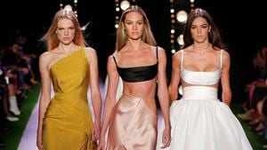 The 34-year-old Texan designer Brandon Maxwell made his 2020 spring ready-to-wear collection about everything he loves.(Brandon Maxwell/Instagram)