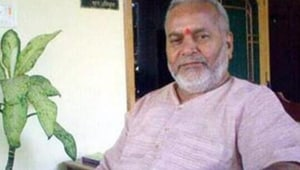 File photo of Swami Chinmayanand. He has been accused of raping and sexually exploiting an engineering student in Saharanpur.(HT photo)