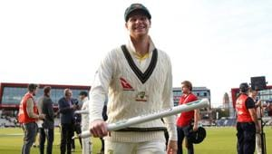 Australia's Steve Smith celebrates wining the match and retaining the Ashes(Action Images via Reuters)