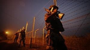 A team of BSF personnel deployed in the area for border security intercepted the smugglers on Sunday evening and stopped them.(PTI PHOTO.)