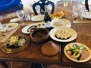 A table with Coorg cuisine