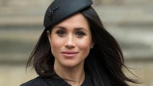 The Duchess of Sussex celebrated Martin's birthday before she went to cheer Serena Williams at the US Open. It was Martin, who perfected the royal's stunning look on her and Prince Harry's wedding in May 2018.(HT File photo)