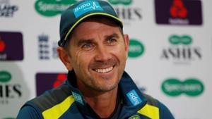 Australia head coach Justin Langer during the press conference.(Action Images via Reuters)