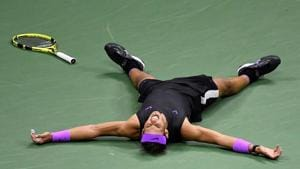 Rafael Nadal after winning the US Open(USA TODAY Sports)