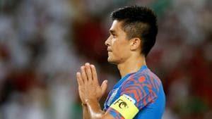 India football team captain Sunil Chhetri(REUTERS)