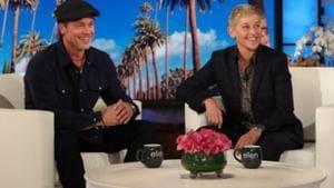 Brad Pitt was promoting his film Ad Astra on Ellen's show.