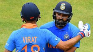 File image of India captain Virat Kohli and vice-captain Rohit Sharma.(Getty Images)