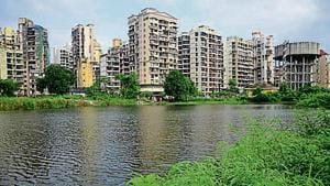 Residents have been fighting to save the pond at Sector 19 in Kharghar in Navi Mumbai.(HT image)