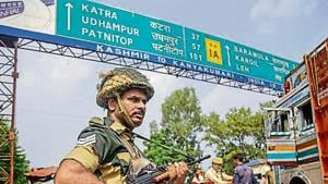 The J&K administration restricted public movement in Kishtwar on Friday after militants fled with the guns of a PDP leader's PSO.(PTI File)