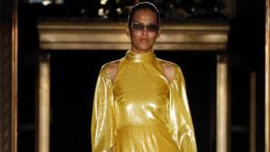 The Christian Siriano collection is modeled during Fashion Week, Saturday, Sept. 7, 2019, in New York. (AP Photo/Richard Drew)(AP)