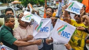 The final National Register of Citizens (NRC) identifying the status of all 3.1 crore applications, including 1.9 million exclusions, in Assam was published online on Saturday.(PTI File Photo)